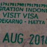 Visa stamp in passport