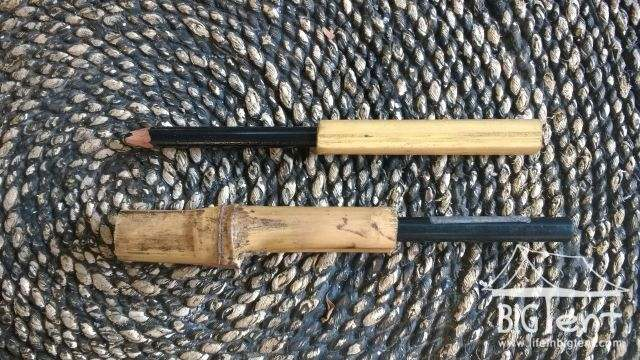 Bamboo pencil handle that I made
