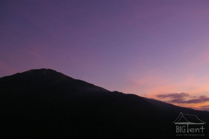 Sun goes on mount Merbabu