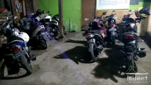 Parking in mount Merapi post