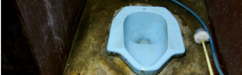 Using squat toilet