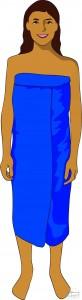 Wearing tube sarong - dress