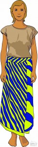 Wearing tube sarong - original way