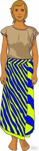 Wearing tube sarong - original way