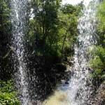 """""""Inside"""" waterfall."""