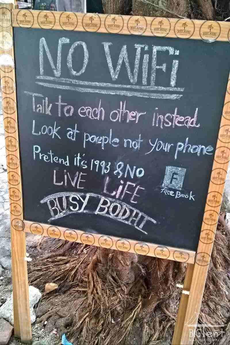 No wi-fi sign