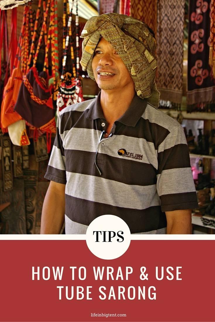 How to use tube sarong - pinterest