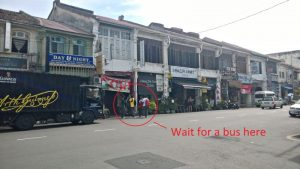 How to get Indonesian visa in Penang - bus stop