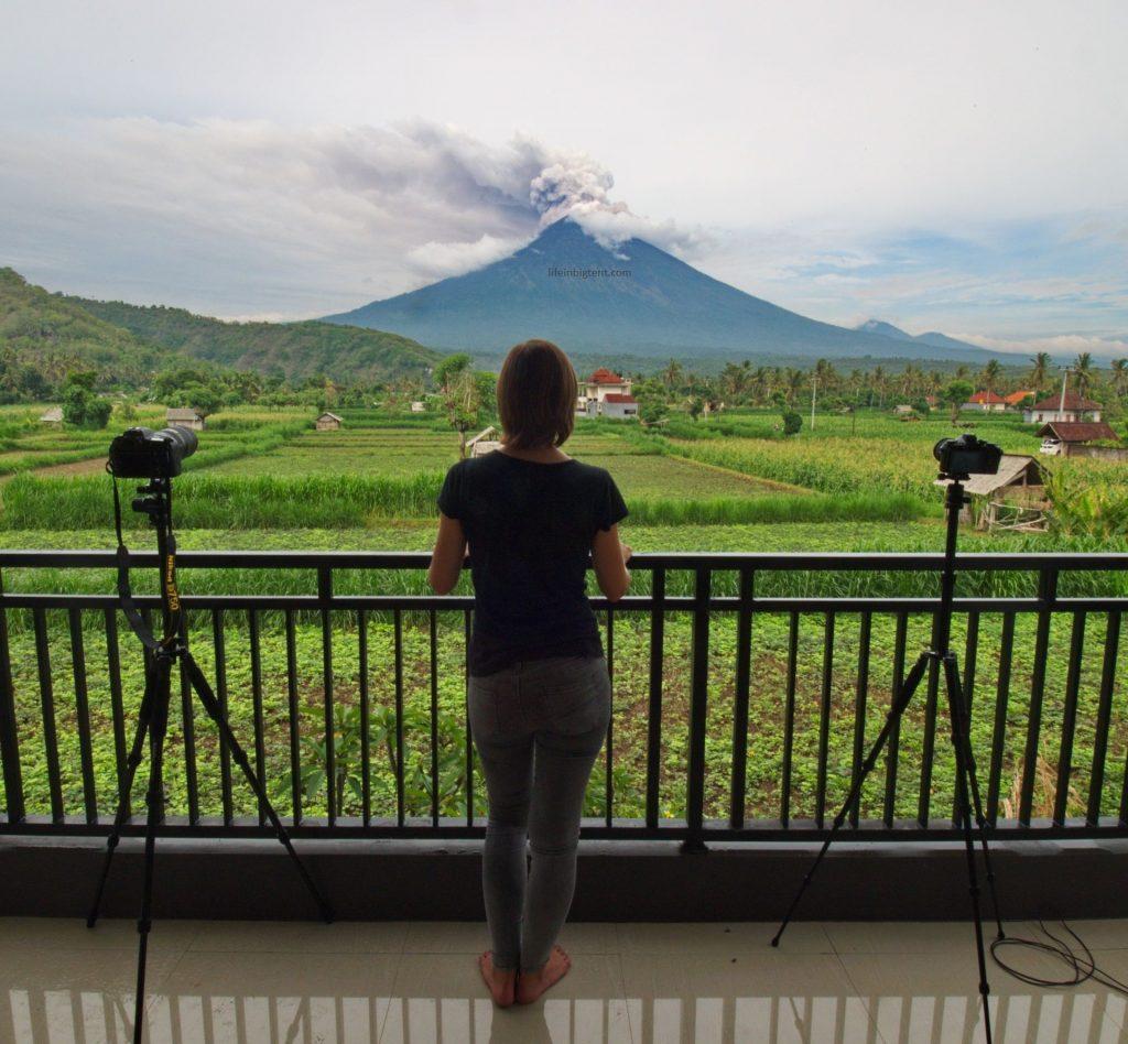 Volcano Agung in Bali