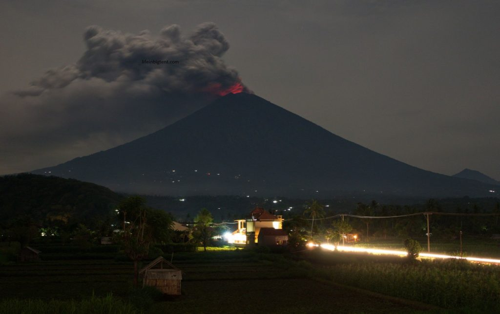 Agung at night