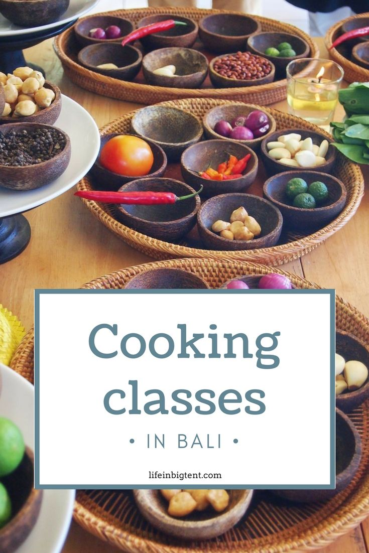Cooking classes in Bali - pinterest