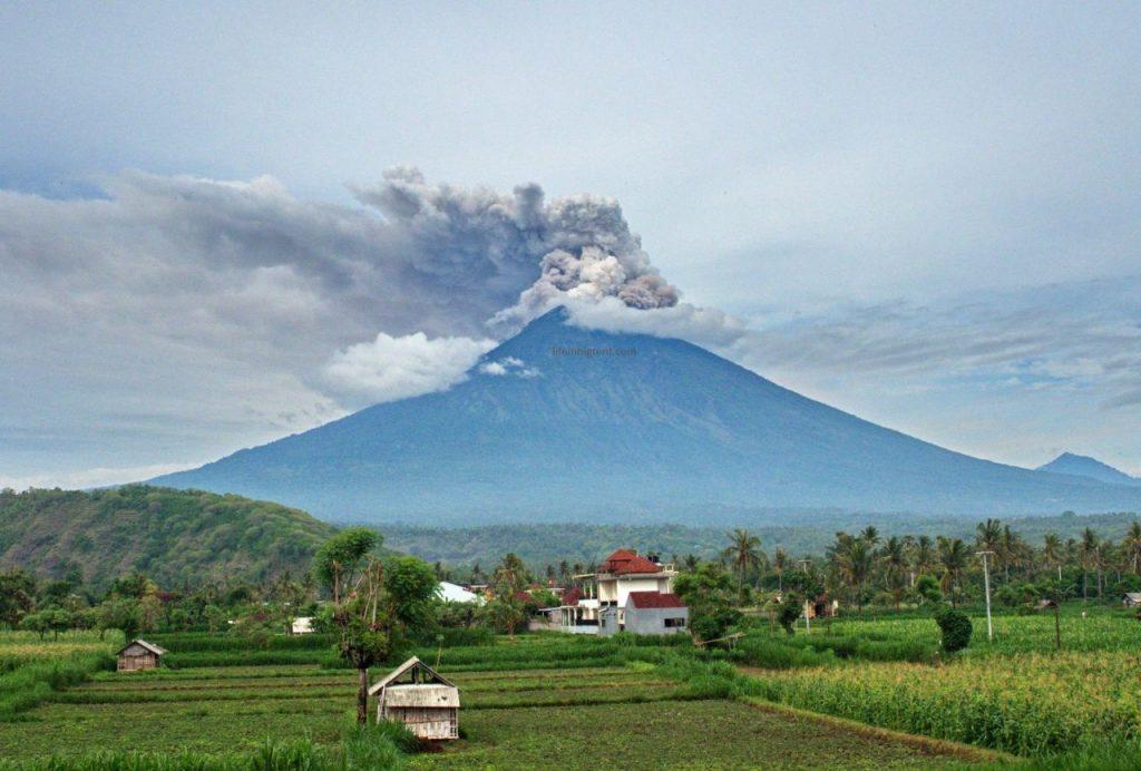 Amed - ugnikalnio vaizdas