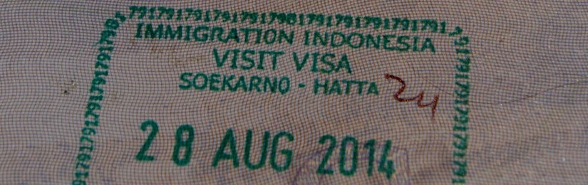 Visa stamp in passport