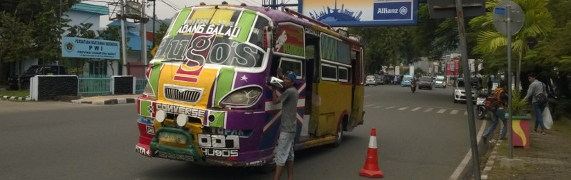 Bus in Sumatra island