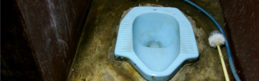 Using squat toilet