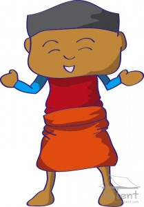 Wearing sarong - step 6