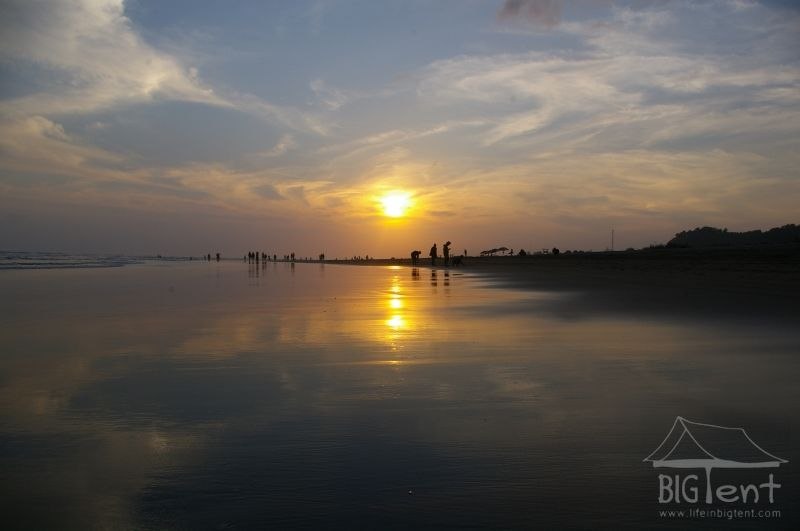 Parangtritis beach sunset