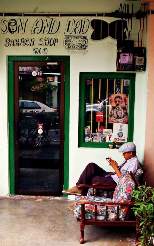 Gerogetown, Penang - barber shop
