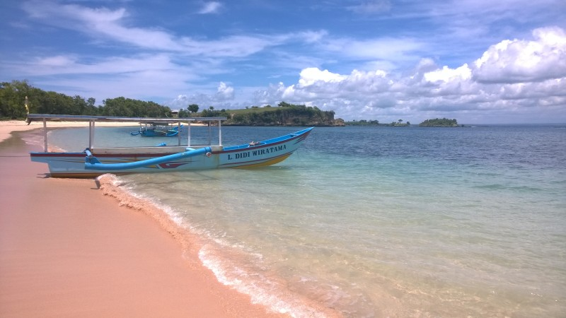Pink beach in Lombok