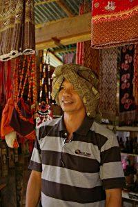 Sarong like head cover